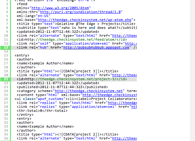 Self updating rss feed with xml