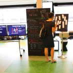 The Gelatine screen and user profile blackboard provide a central display of engagement opportunities with currently co-present users